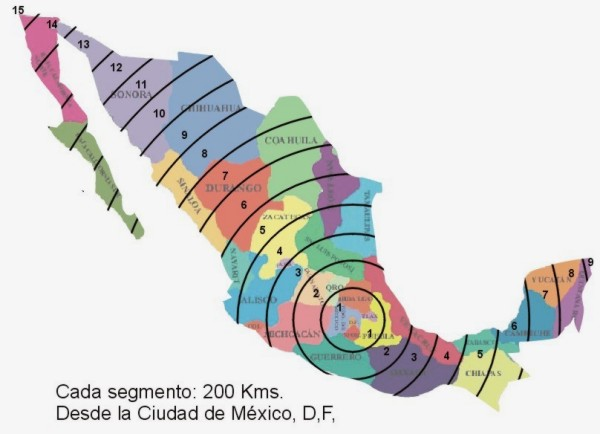 Mapa de envíos