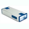 Linterna rectangular de aluminio con 3 luces led