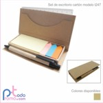 Set estuche de escritorio cart�n